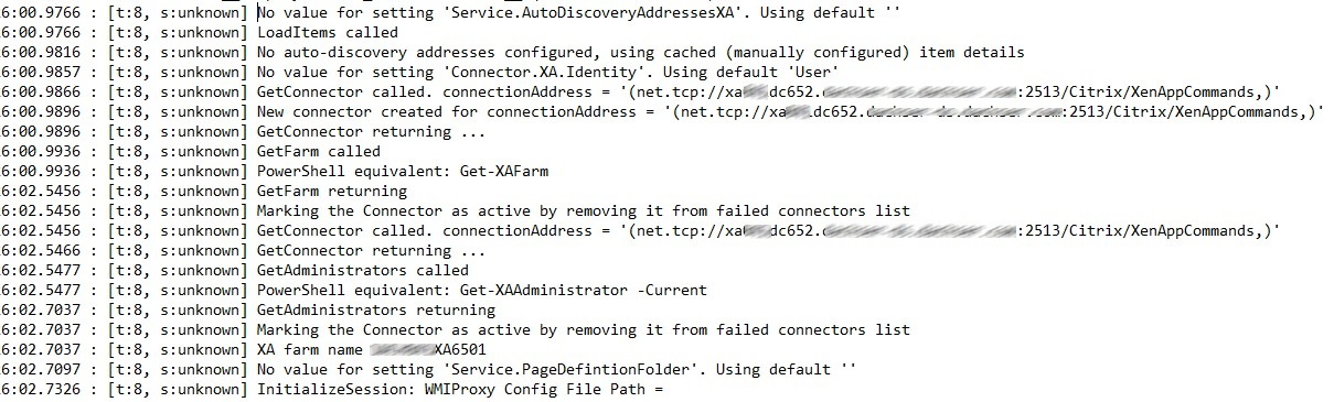 Citrix Director slow login after shutdown XA6 5 Data Collector